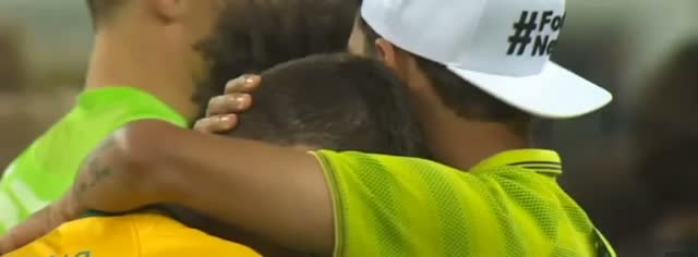 Oscar Crying/Cry/Cris vs Germany Consoled by Thiago Silva - Brazil vs Germany 1-7 - FIFA World Cup