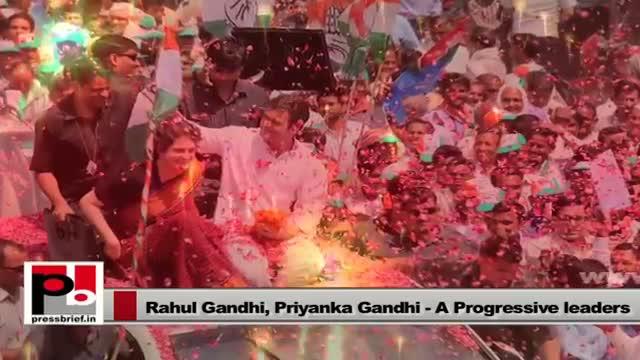 Rahul Gandhi and Priyanka Gandhi Vadra - young, energetic mass leaders