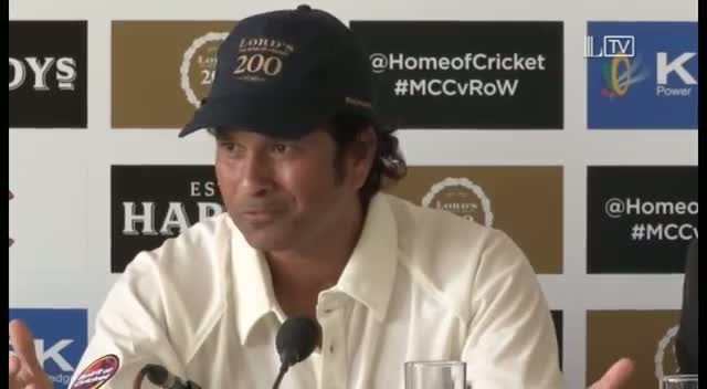 Sachin Tendulkar relives first time at Lord's - MCC vs Rest of World