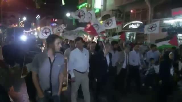 Israeli Air Strikes Spur West Bank Protest