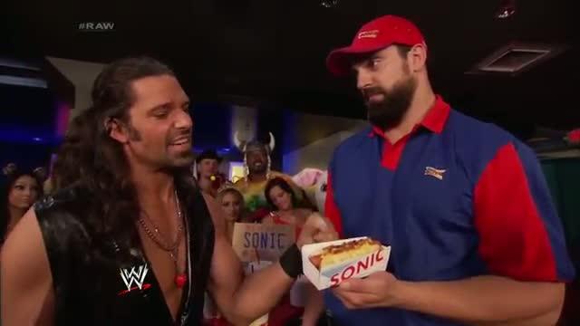 Adam Rose shows Damien Sandow how you Sonic: WWE Raw, July 14, 2014