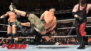John Cena & Roman Reigns vs. Randy Orton, Seth Rollins & Kane - 3-on-2 Handicap Match: WWE Raw, July 14,