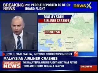 A Malaysian airline flight crashes near the Russian-Ukrainian border