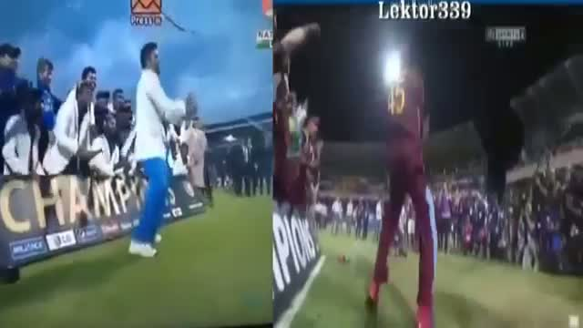 Winning Moments - Virat Kohli Vs Chris Gayle ICC Champions Trophy Gangnam Style