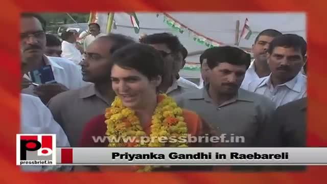 Priyanka Gandhi - great mass leader who has great resemblance with Indira Gandhi