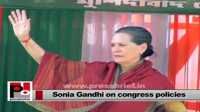 Sonia Gandhi - real mass leader who always concerned about the poor and underprivileged