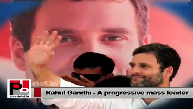 Rahul Gandhi - a perfect mass leader; always ready to take up issues of the poor