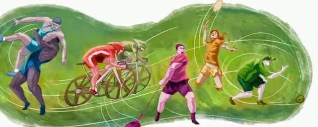 Glasgow 2014 Commonwealth Games - Google Doodle