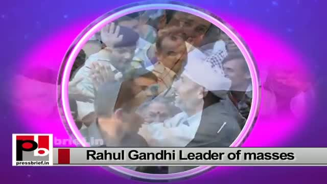 Rahul Gandhi - a leader who sets an example by doing what he has been saying