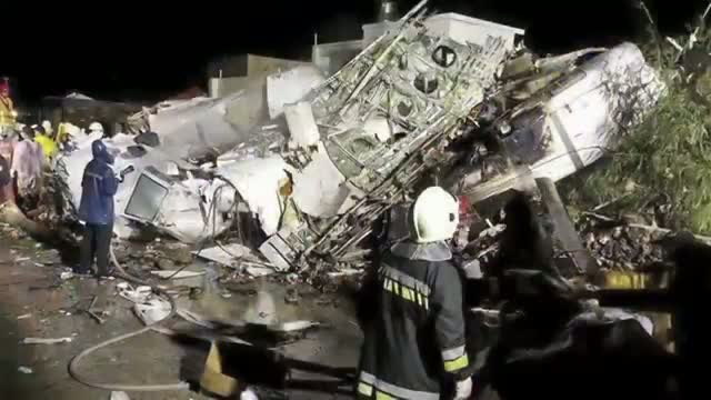 Plane Crashes in Taiwan, Dozens Feared Dead