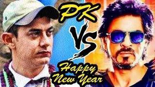 Aamir Khan's PK Official TRAILER V/S Shahrukh Khan's Happy New Year TRAILER CLASH