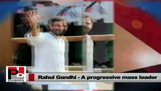 Rahul Gandhi - a progressive leader who always stays connected with the masses