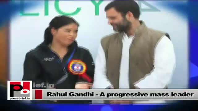 Rahul Gandhi - a youth icon who sets an example by doing what he has been saying