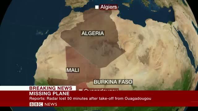 Algeria plane missing on Sahara route from Burkina Faso