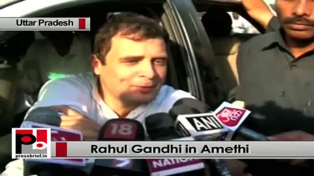 Rahul Gandhi in Amethi slams Modi govt over price rise, Maharashtra Sadan row