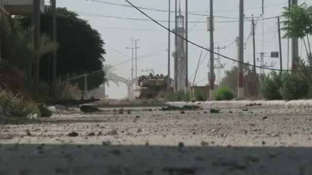 Tanks Patrol Gaza Streets During Ceasefire