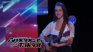 """Anna Clendening: Singer Overcomes Nerves To Deliver """"Radioactive"""" Cover - America's Got Talent 2014"""