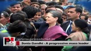 Congress President Sonia Gandhi - leader with innovative vision and progressive ideas