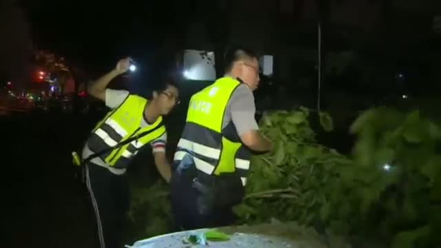 Rescuers at Taiwan Explosion Scene