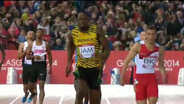 Usain Bolt 100m slow motion - 1000 frames per second - Glasgow Super SlowMo