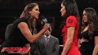 Brie Bella vs. Stephanie McMahon SummerSlam contract signing: WWE Raw, Aug. 4, 2014