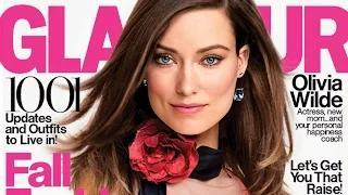 Olivia Wilde Breastfeeds Son in Glamour