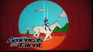 Aerial Animation: Aerial Act Goes Under the Sea - America's Got Talent 2014