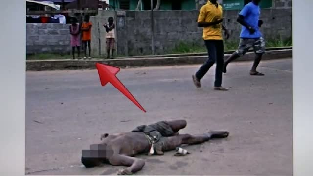 Kids Standing Close To Ebola Virus Victims Body Left Laying In The Streets Of Liberia