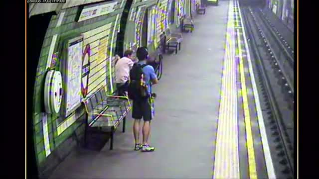 Stroller Falls Onto London Tube Tracks