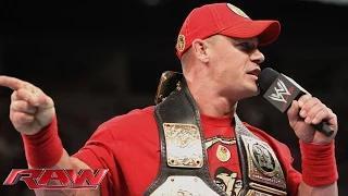 John Cena calls out Brock Lesnar: WWE Raw, Aug. 11, 2014