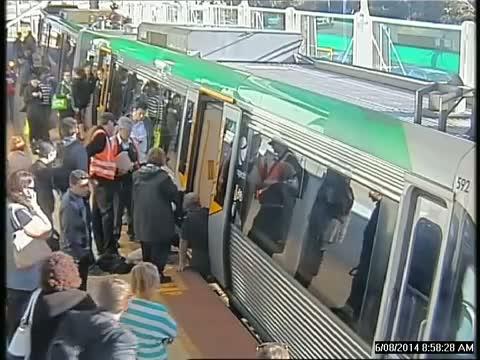 Transperth passengers rescue man at Stirling Station