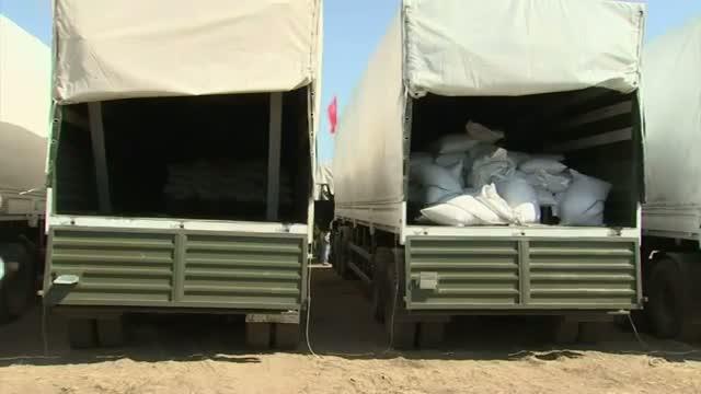 Russian Aid Convoys at Ukraine Border