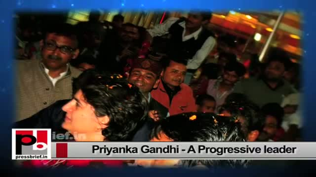 Priyanka Gandhi Vadra - energetic personality who easily connects with the common people