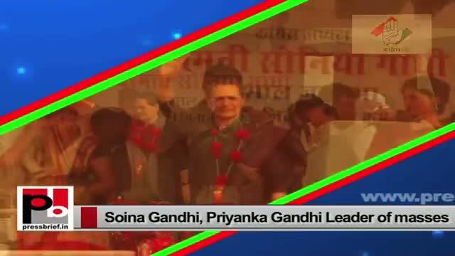 Priyanka Gandhi, Sonia Gandhi - energetic mass leaders with progressive and innovative vision