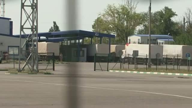 Russian Aid Convoy Arrives in Ukraine Video