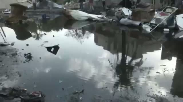 Damage From Car Bomb Explosion in Iraq