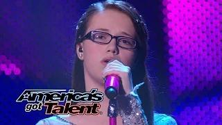 "Mara Justine: Girl Sings Soulful ""Breakaway"" Kelly Clarkson Cover - America's Got Talent 2014"