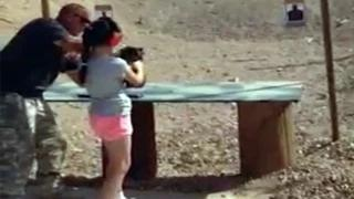 9-year-old girl accidentally kills shooting instructor with Uzi - Girl shot instructor in the face!