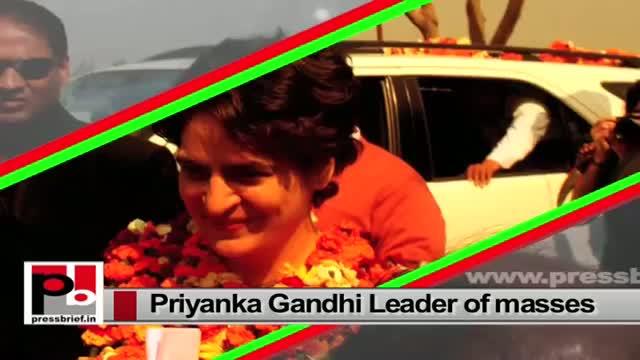 Priyanka Gandhi Vadra - charismatic, energetic like former PM Indira Gandhi