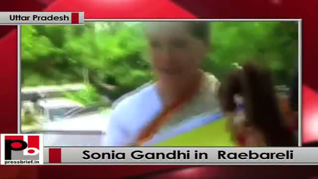Sonia Gandhi visits her parliamentary constituency Raebareli