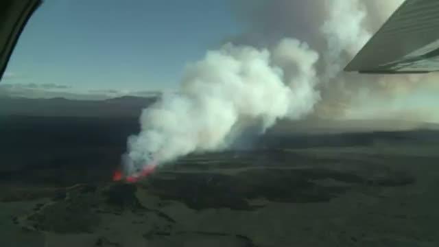 Iceland Volcano Spewing Smoke