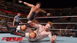 Sheamus & Dolph Ziggler vs. Cesaro & The Miz: WWE Raw, Sept. 1, 2014