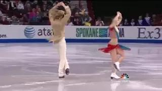 American Ice Dancers Skating to Indian Bollywood Songs