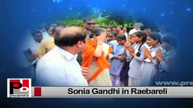 Sonia Gandhi visits Raebareli, interacts with people, assures them of action