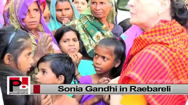 Sonia Gandhi in Raebareli, interacts with people, launches development projects