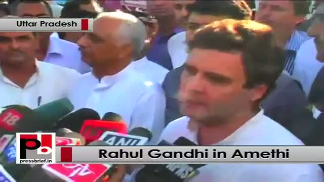 Rahul Gandhi in Amethi slams Modi govt at the Centre
