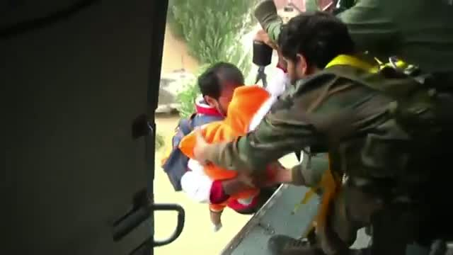 Flood Victims Lifted to Safety in India