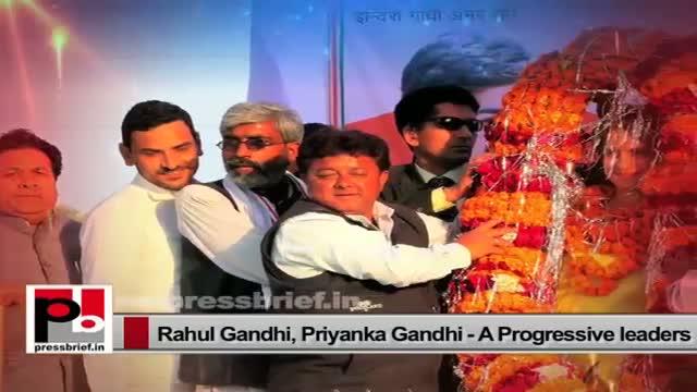 Priyanka Gandhi and Rahul Gandhi, two charismatic leaders of Congress