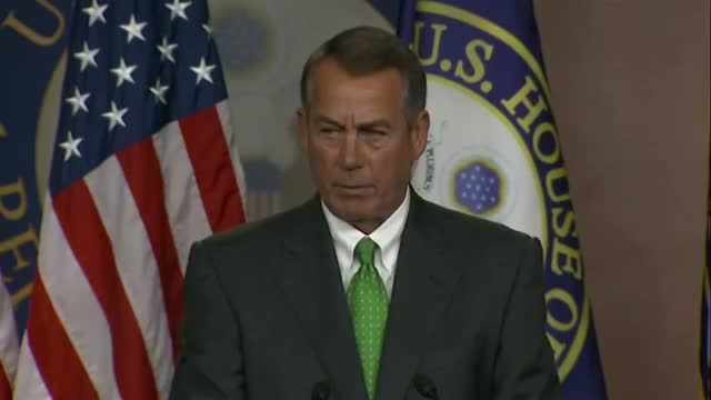 Boehner: 'F-16 Is Not a Strategy'