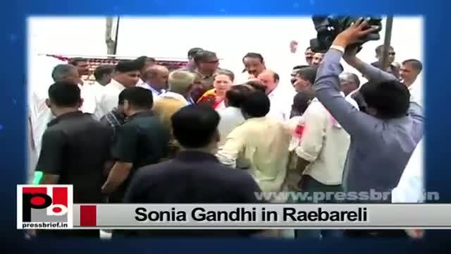 Sonia Gandhi in Raebareli slams Narendra Modi's '100-Day Government'